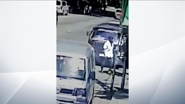 CCTV shows Sri Lanka attacker outside hotel