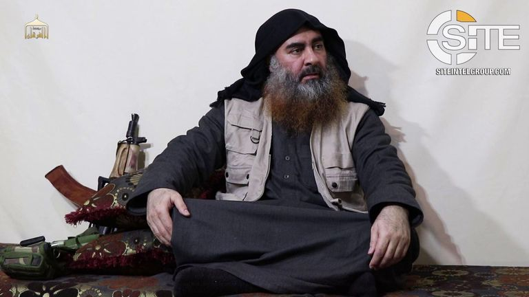 Abu Bakr al-Baghdadi. Pic: Site Intel