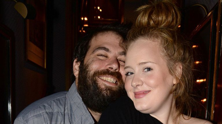 Simon Konecki and Adele pictured at Lady Gaga concert at Annabel's, London, December 2013. Pic: Richard Young/REX/Shutterstock