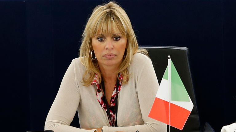 Alessandra Mussolini is an MEP for Silvio Berlusconi's Forza Italia party