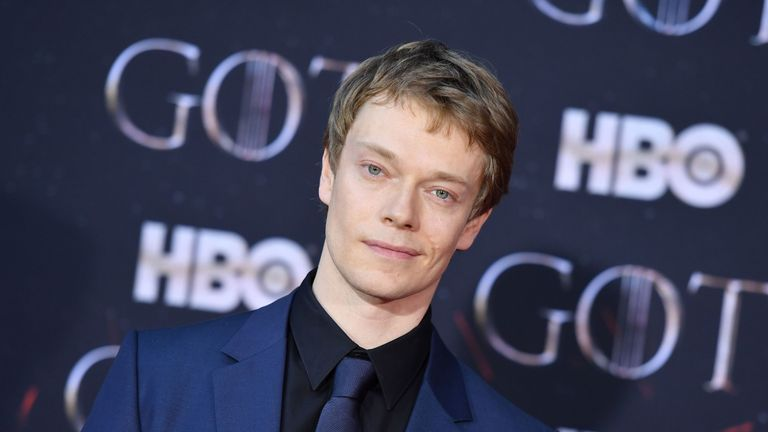 Alfie Allen, brother of singer Lily Allen, who plays Theon Greyjoy