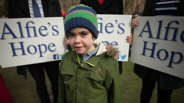 Alfie Dingley's mother fought to allow him to have medication in the UK