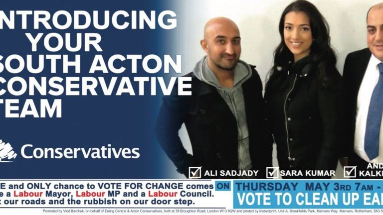 Ali Sadjady previously stood to be a Conservative councillor. Pic: Cllr Joy Morrissey/Twitter