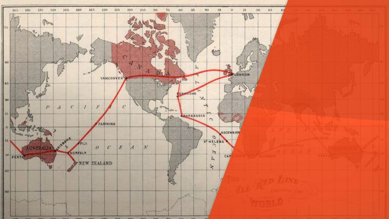 The All Red Line was a network of telegraph stations and underground cables under British control