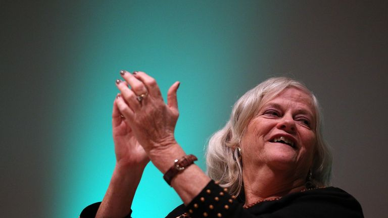 BIRMINGHAM, ENGLAND - OCTOBER 08:  Former MP Anne Widdecombe listens to a speaker at a Coalition for Marriage fringe event, as part of the Conservative Party Conference close to the  International Convention Centre on October 8, 2012 in Birmingham, England. The annual four-day Conservative party conference began yesterday and features speeches from Cabinet ministers as well as the Mayor of London.  (Photo by Matt Cardy/Getty Images)
