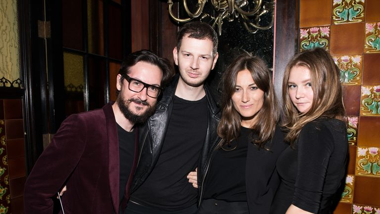 Anna Sorokin (R) poses with Giudo Cacciatori, Gro Curtis and Giorgia Tordini at a New York event in 2014