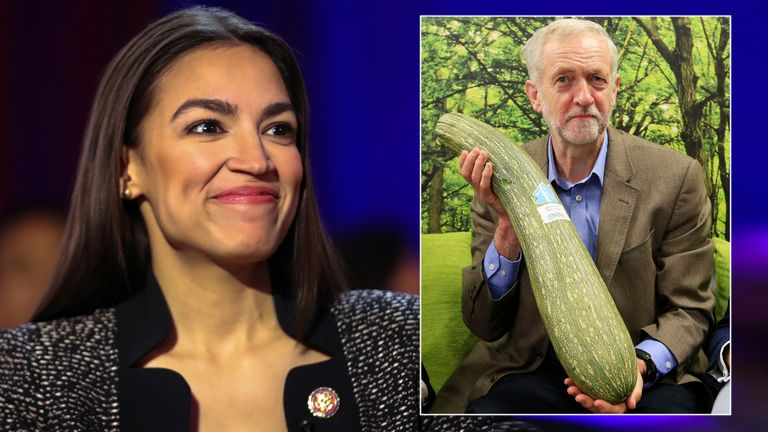 Alexandria Ocasio-Cortez and Jeremy Corbyn