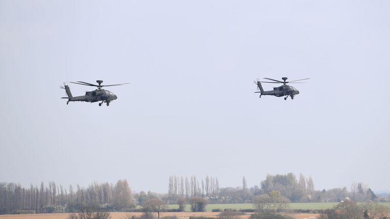 Five of the Apache choppers have been sent to Estonia