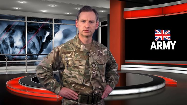 General Sir Mark Carleton-Smith speaks in the Army YouTube video. Pic: British Army