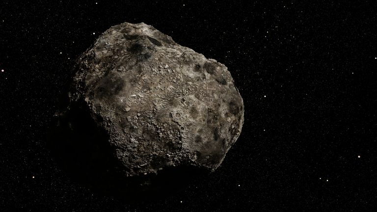 An illustration of an asteroid. File pic