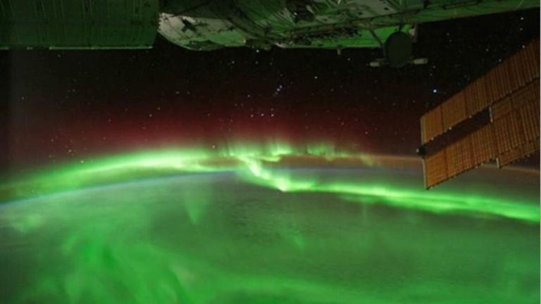 The aurora from the International Space Station. Pic: NASA