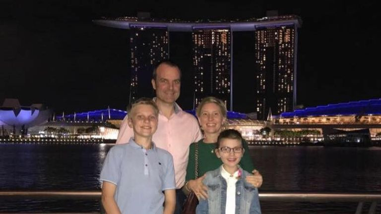 The family were living in Singapore