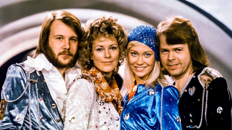 From left: Benny Andersson, Anni-Frid Lyngstad, Agnetha Faltskog and Bjorn Ulvaeu has a string of hits as ABBA in the 1970s