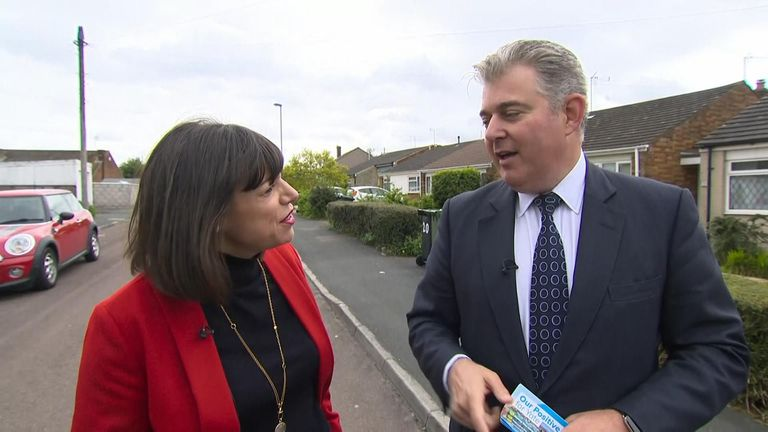 Brandon Lewis took Sky News out to knock on doors in Yate, near Bristol