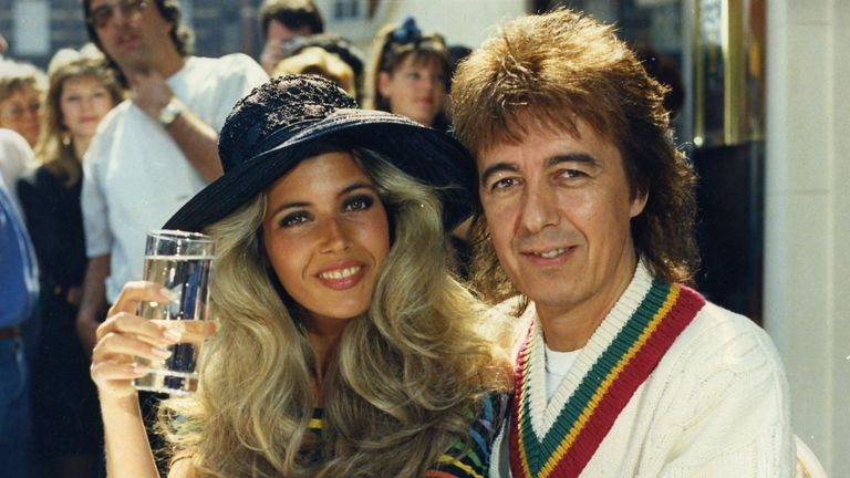 Bill Wyman and Mandy Smith in 1989