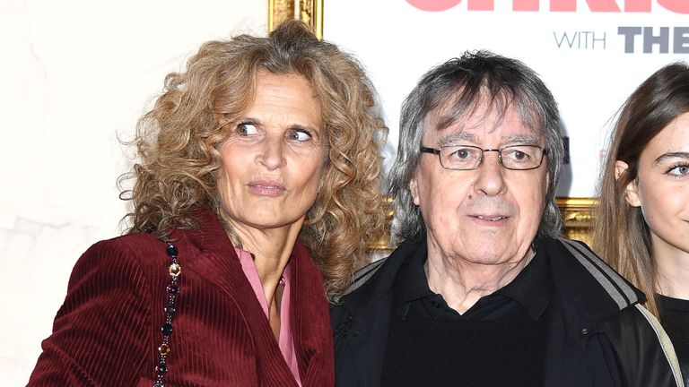 "Suzanne Wyman and Bill Wyman attend the ""Surviving Christmas With The Relatives"" world premiere at the Vue West End on November 21, 2018"