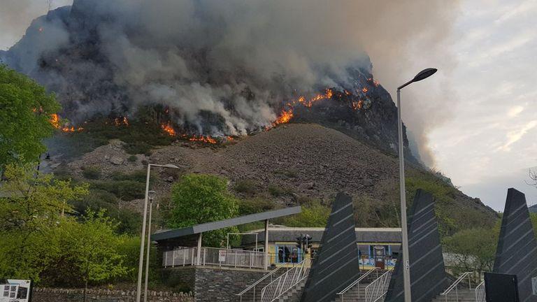 The fire in Blaenau Ffestiniog