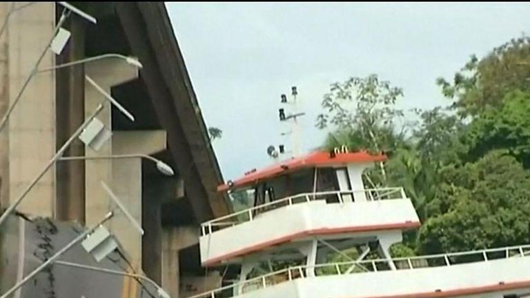 A bridge has collapsed in Brazil