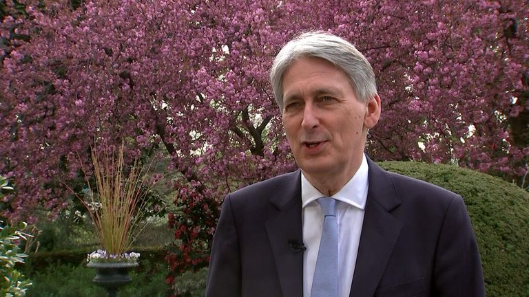 Chancellor tells Sky News it would have been 'irresponsible' not to spend £4bn preparing the UK leaving the EU.