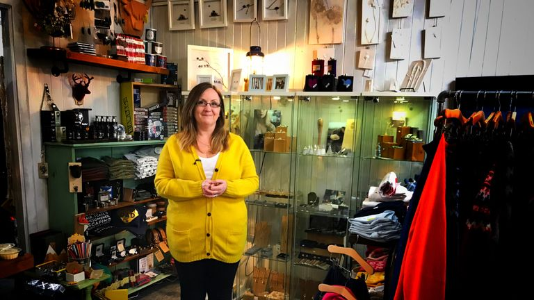Gift shop owner Zoe James said she was 'very frustrated, really frustrated by everything'