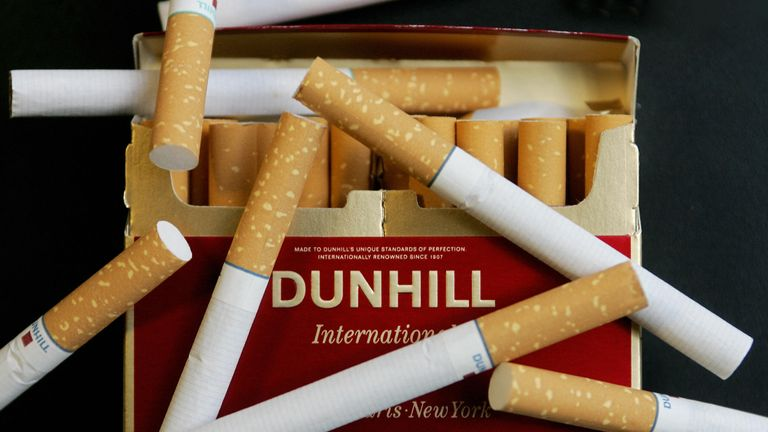 Dunhill cigarettes made by British American Tobacco