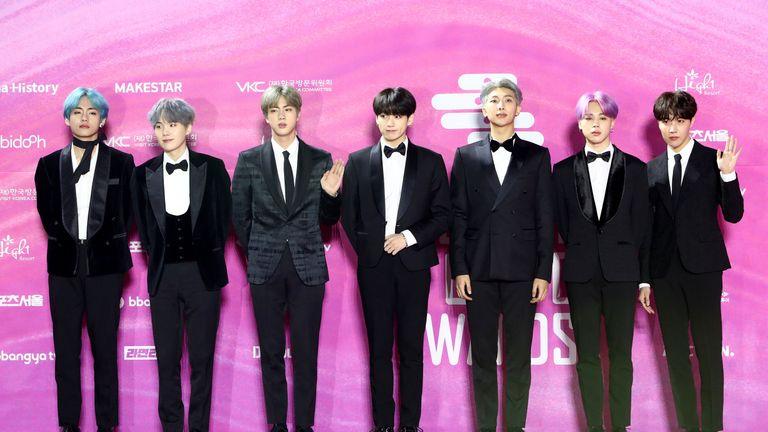 Korean K-pop boyband BTS
