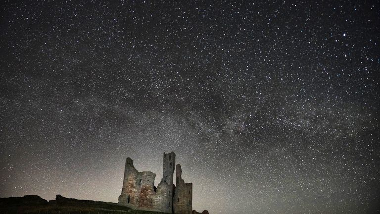 The Milky Way and millions of stars over Dunstanburgh Castle in the early hours of Thursday morning.
