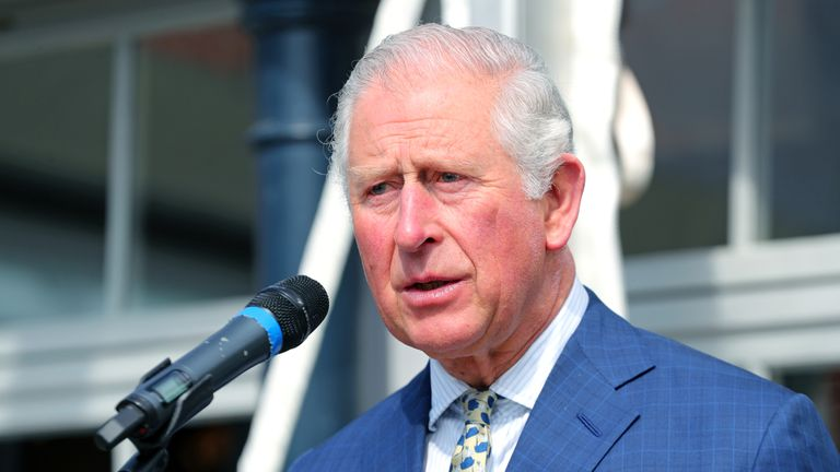Prince Charles, Prince of Wales attends the reopening of Hillsborough Castle on April 09, 2019 in Belfast, Northern Ireland