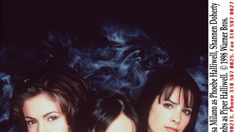 Doherty (c) also starred in Charmed