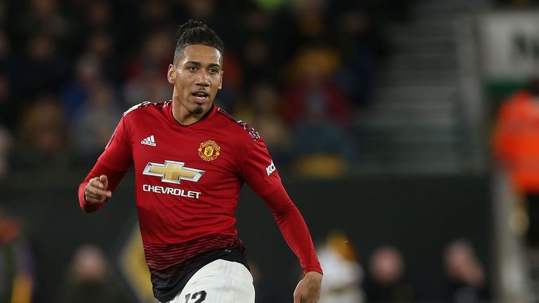Manchester United defender Chris Smalling was abused online following their loss to Barcelona
