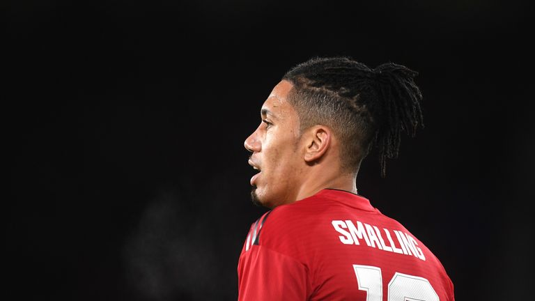 Chris Smalling was abused on Twitter following his team's defeat to Barcelona on Tuesday