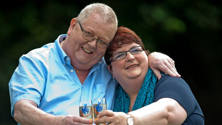 Colin and Christine Weir scooped a £161m EuroMillions jackpot in 2011