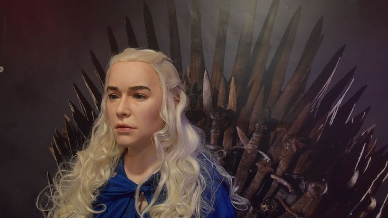 Game of Thrones character Daenerys Targaryen in wax