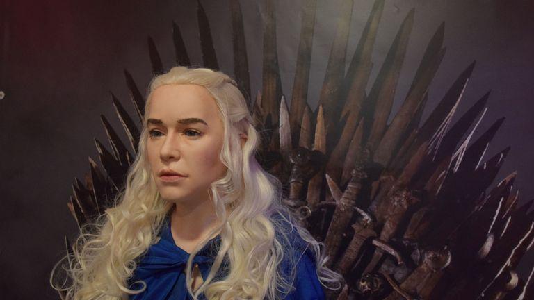 Game of Thrones character Daenerys Targaryen in wax