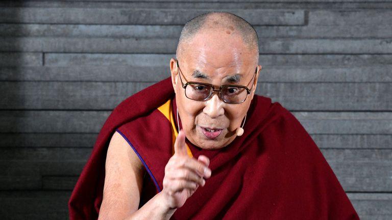 Tibetan spiritual leader Dalai Lama attends a press meeting in Malmo, Sweden September 12, 2018.