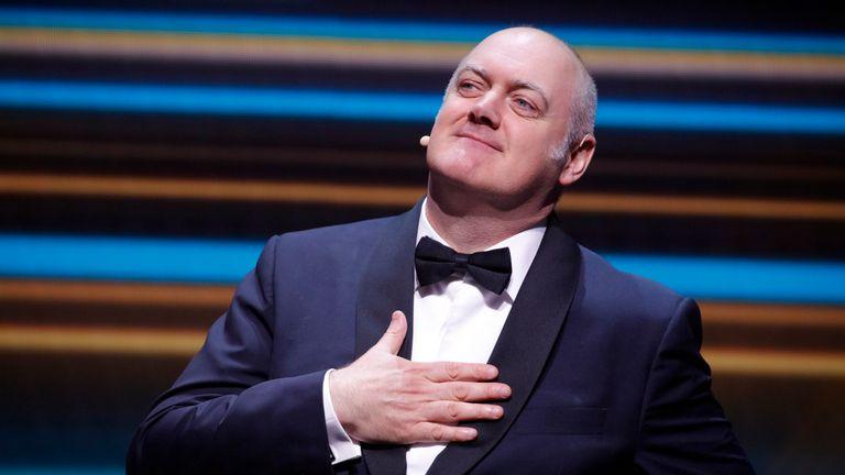 Comedian Dara O'Briain hosted the BAFTA Games Awards this year Pic: BAFTA/Thomas Alexander