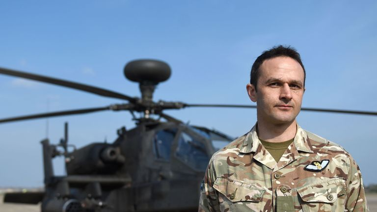 Major David Lambert said he was 'excited' by the operation in the Baltics