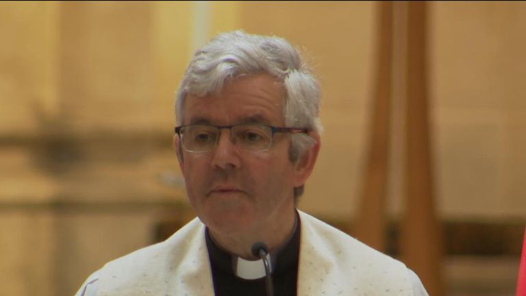 Dean Stephen Forde speaks at funeral of Lyra McKee