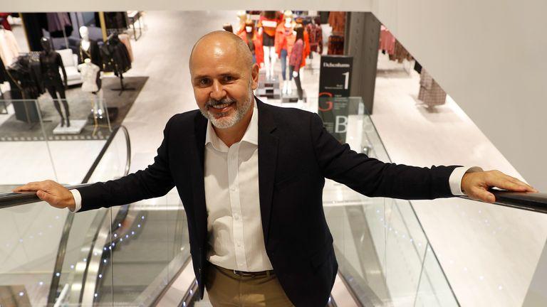 Former chief executive of Debenhams - Sergio Bucher