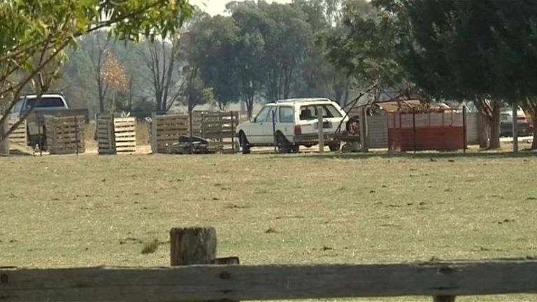 The property is in Moyhu, Victoria - about 155 miles northeast of Melbourne