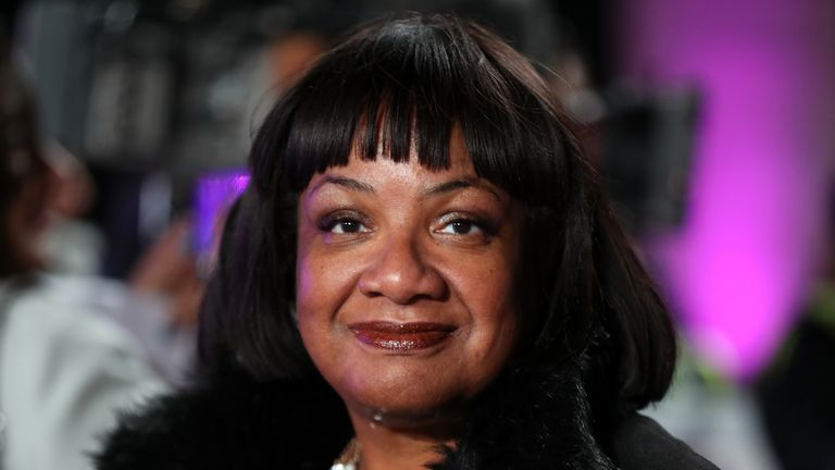 Diane Abbott during the Pride Of Britain Awards 2018