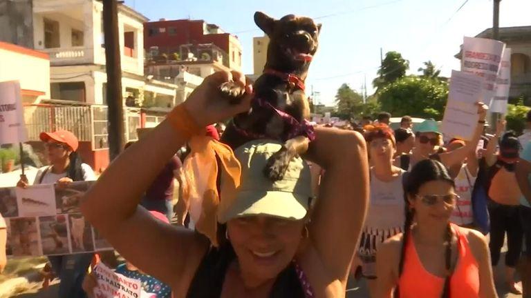 Cuba permits rare public march