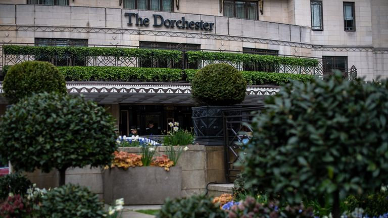 The Dorchester is one of the hotels celebrities are urging people to boycott