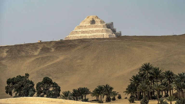 The necropolis was found near Saqqara, 20 miles south of Cairo