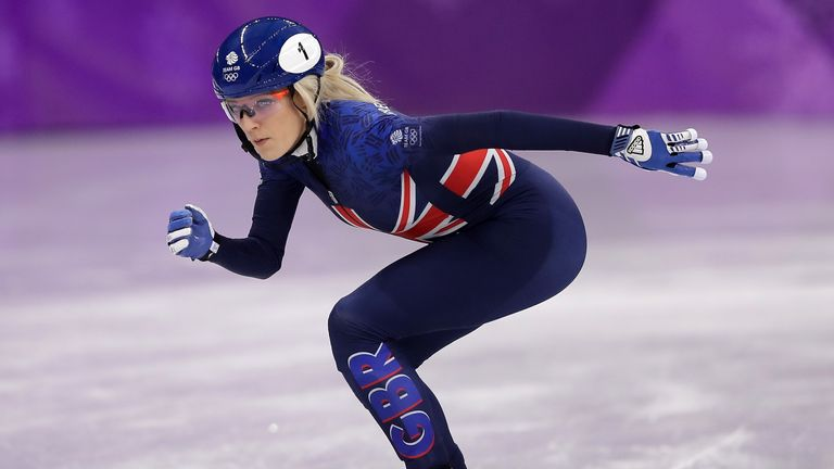 Elise Christie has competed at three Winter Olympics