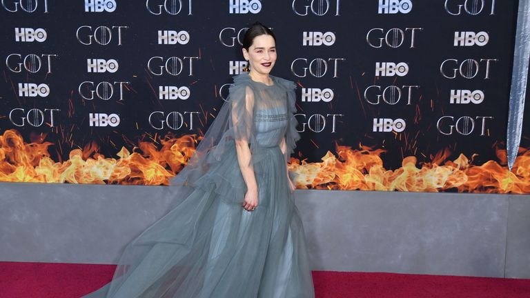 Emilia Clarke, who plays  Daenerys Targaryen