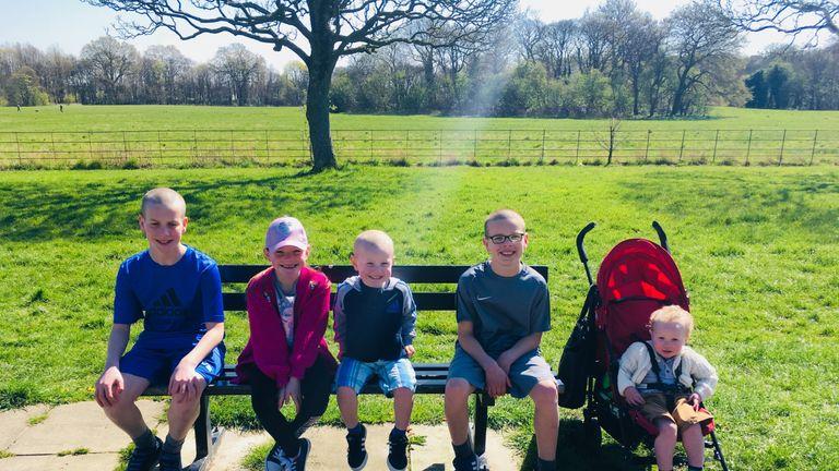 Emma's children (left to right) William, Nellie, George, Alfie and Arthur