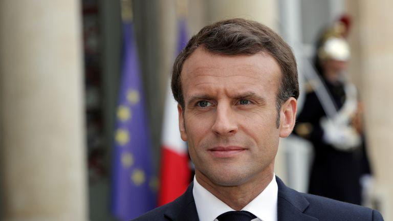 French President Emmanuel Macro