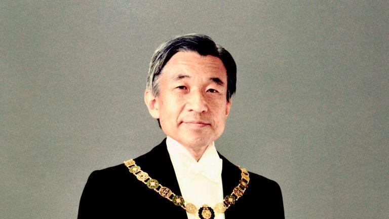 Emperor Akihito in full dress in 1990