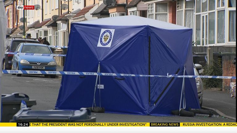 The shooting happened on Church Road, Erdington